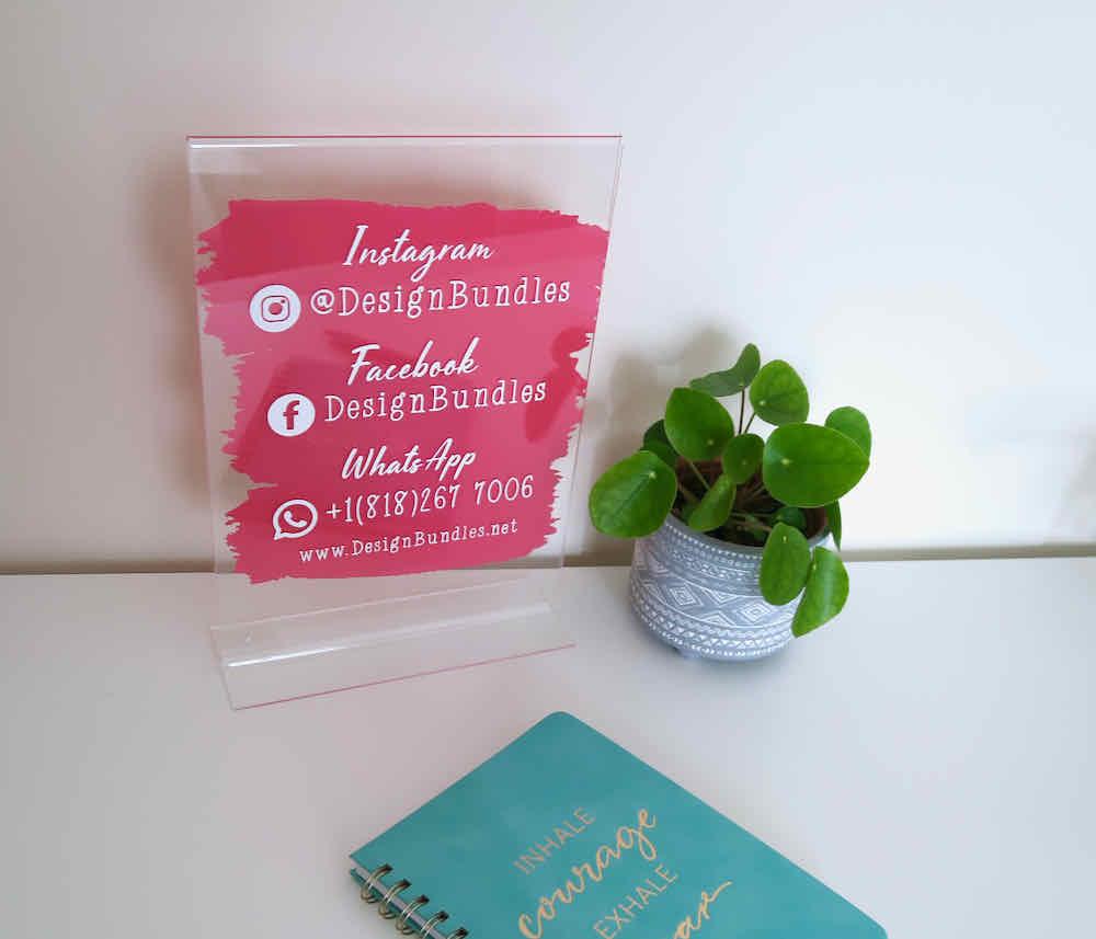 social media plaque for small business